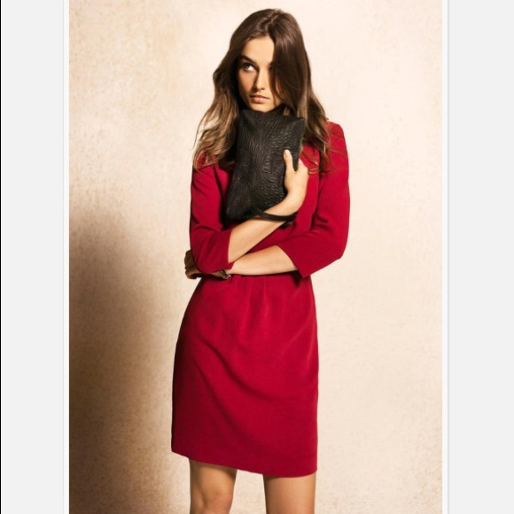 Massimo Dutti Dresses & Skirts - Massimo Dutti 3/4 sleeve red dress